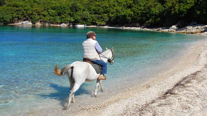 horseback riding in corfu